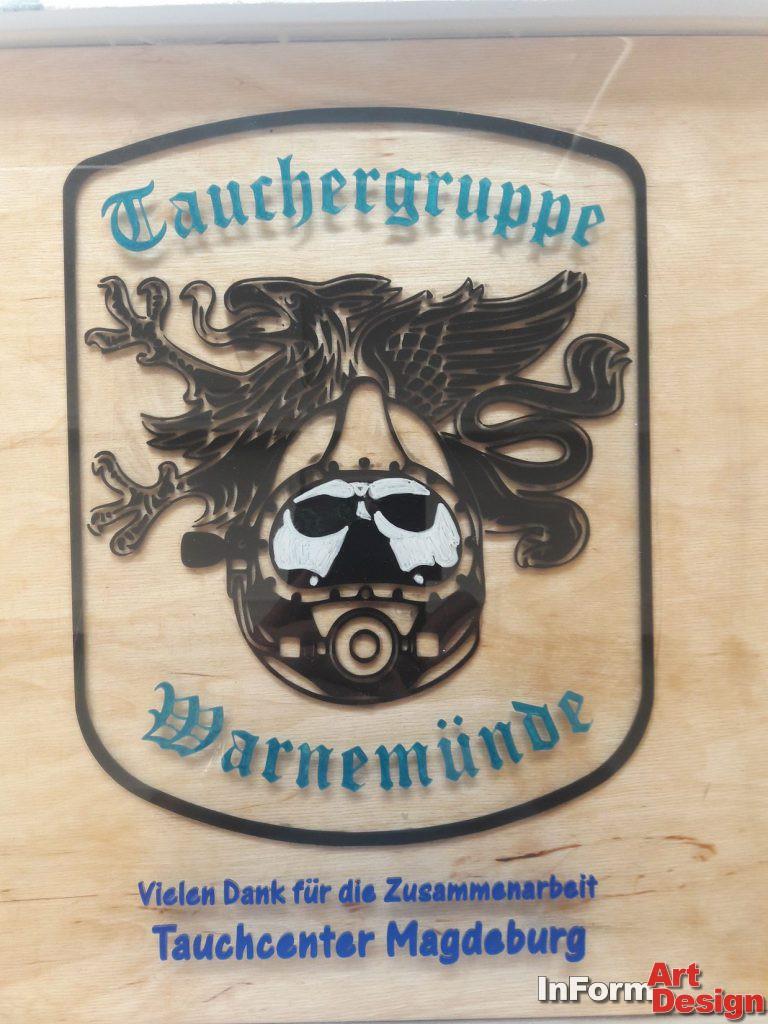 """Wand-Schild """"Warnemünde"""""""